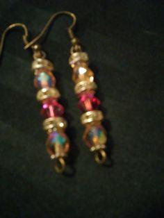 pink Drop Earrings by SheilasJewels on Etsy