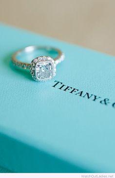Tiffany's princess cut vintage engagement ring