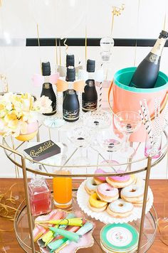 Champagne + donuts = a match made in heaven.