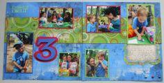 birthday scrapbooking layouts | Scrapbook Layout: Aiden's 3rd Birthday