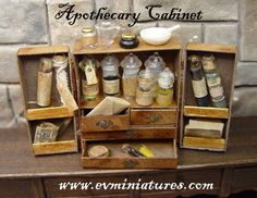Some really neat ideas, no tutorials, all for sale but none in stock Dec '13.  books, scrolls, apothecary, astronomy, hour glasses, candelabras