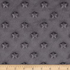 Minky Star Dot Charcoal from @fabricdotcom  This ultra plush and cuddly fabric has a silky surface with star embossing and a 3mm pile. It is perfect for creating blankets, baby accessories, plush toys, and more!