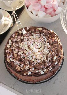 Rocky Road Cake | Esmeralda's Rocky Road Cake, How To Slim Down, Cute Cakes, Cheesecake, Deserts, Dessert Recipes, Sweets, Chocolate, Birthday