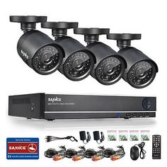 SANNCE 8CH 960H HDMI DVR 900TVL IR Outdoor Home Shop CCTV Security Camera System    $89.99   $189.99   (509 Available)End Date: Sep 072016 07:59 AM GMT-07:00