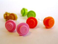 LEGO stud earrings on Hideous! Dreadful! Stinky!