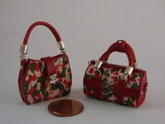 ••  Miniaturas bolsos: Bolsos coleccion navidad