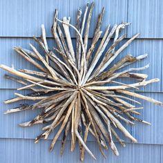 """Custom Driftwood Sunburst - 36"""" across - spectacular on the wall!  GORGEOUS piece!"""