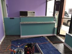 Our new granite service counter The Upscale Tail, Pet Grooming Salon, Naperville 630-632-TAIL www.theupscaletail.us