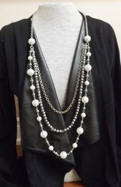 This strand of pearls are perfect for work, or for evening. Youll just need a simple sweater or shirt, and let it do its job to brighten your outfit. Itll make you stand out in a crowd. Simply beautiful. Thanks for visiting my shop. Please visit my store for more treasures and ingenious