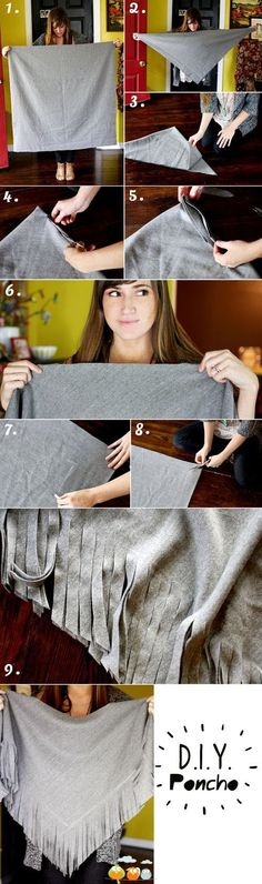 Tú misma puedes hacer este fantástico poncho. ¿Quieres saber cómo? #VidaRifel
