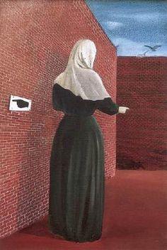 Nő fátyollal (Woman with veil) - Lili Ország Artist Painting, Art Painting, Dystopian, Hanging Art, Illustration, Painting, Imagery, Painting Reproductions, Art