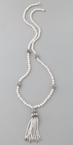 Miguel Ases pearl tassel necklace