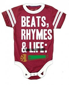 Oh Shut the door!  If I had a baby.... Or if I knew someone that has a baby, that loves Hip-Hop like me... This would def be a baby gift