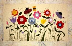 Cleo's Wildflowers Wall Hanging Pattern TQD-116