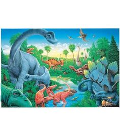 #CDWish13      List  Dinosaurs Floor Puzzle - Carson Dellosa Publishing Education Supplies