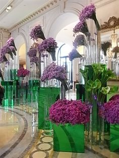 I would love to go to the George the V in Paris just to see the floral displays in the lobby