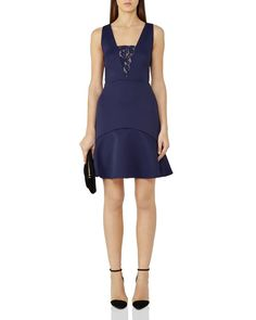Reiss Hudson Lace-Inset Dress