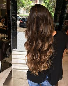 Pocahontas Ombrè: Ombre Hair ombre tape in hair extensions Brown Ombre Hair, Brown Hair Balayage, Brown Blonde Hair, Ombre Hair Color, Brunette Hair, Golden Blonde, Hair Highlights, Golden Hair, Dark Ombre
