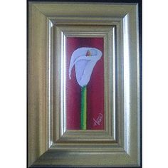 Framed Original oil paintings by Hanli Barnard - Warm Arum Lilly - 290 x for Oil Paintings, Interiors, Warm, The Originals, Decoration Home, Oil On Canvas, Decor, Art Oil, Deco
