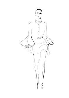 Fashion illustration - chic fashion sketch // Judith van den Hoek: