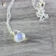 """Moonstone Sterling Silver Pendant Necklace - 18"""" Length - Wedding nacklaces (*Amazon Partner-Link)"""