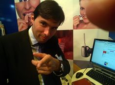Anthony Novelli at Expodental 2014 ~ Photo taken with #GoogleGlass ~ HubSpider / Curaprox / Curaden ~ www.hubspider.com