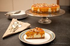 Norwegian Baked Cheesecake with Brunost-Pecan Caramel, from Nordic Nibbler