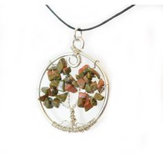 Natural Unakite Tree of Life Pendant by SweetfireCreations on Etsy Tree Of Life Pendant, Etsy Shop, Pendant Necklace, Make It Yourself, Trending Outfits, Unique Jewelry, Natural, Handmade Gifts, Blog