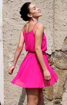 Flirty Fuchsia Dress