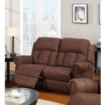 Poundex Furniture - Chocolate Microfiber Loveseat - F7048  SPECIAL PRICE: $526.00