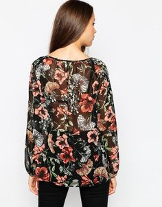 Image 2 of ASOS TALL Vintage Floral Boho Blouse