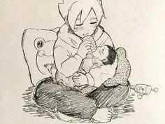 How cute💙 Naruto Shippuden, Clan Uzumaki, Naruto Gaiden, Uzumaki Family, Naruto Family, Anime Family, Boruto Naruto Next Generations, Naruto And Hinata, Anime Naruto