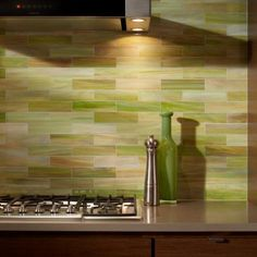 green kitchen backsplash  | Green Mosaic Backsplash