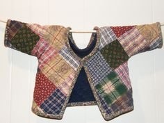 Baby Boy's Quilted Cardigan by ThisOldQuilt on Etsy