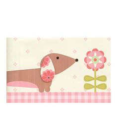 Take a look at this Pink Flower Dachshund Brag Book by pepper pot on #zulily today!
