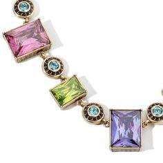 """Heidi Daus Bronzetone Fabulous Rocks Crystal 15.25"""" Necklace + Black Diamond #HeidiDaus #Fashion"""