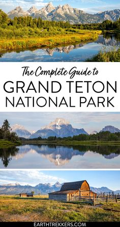 Best things to do in Grand Teton National Park, Wyoming. Includes the best hikes, best scenic viewpoints, best photography spots, and advice on where and when to spot wildlife and how to avoid the crowds. National Parks Usa, Grand Teton National Park, Yellowstone National Park, Travel Usa, Alaska Travel, Alaska Cruise, Canada Travel, Yellowstone Vacation, Seattle