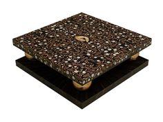 Low square coffee table CELINE | Low coffee table - Atelier MO.BA. Low Coffee Table, Coffee Table Design, Custom Made Furniture, Furniture Design, Childrens Desk, Table Designs, Elegant Table, Bespoke Design, Celine