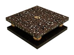 Low square coffee table CELINE | Low coffee table - Atelier MO.BA.