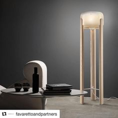 "60 Me gusta, 1 comentarios - The Lighting Studio (@thelightingstudious) en Instagram: ""Get tour exclusively @thelightingstudious  #Repost @favarettoandpartners ・・・ #SATA…"" Wooden Floor Lamps, Glass Floor Lamp, Floor Standing Lamps, Modern Spaces, Amber Glass, Shop Lighting, Black Wood, Wood Colors, Hand Blown Glass"