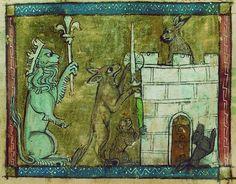 Roman de Renart : Renart assiégé dans sa forteresse