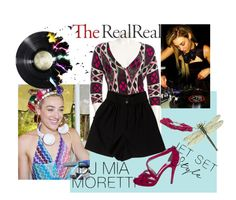 """""""Jet Set Style With DJ Mia Moretti & The RealReal: Contest Entry"""" by cecap ❤ liked on Polyvore featuring Tory Burch, Chanel, Cathy Carmendy and Diane Von Furstenberg"""