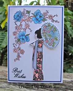 Splitcoaststampers Galleries: Chameleon Pens, My Sweet Petunia, Stamp-n-Storage Asian Crafts, Paper Crafts Magazine, Chinese New Year Card, Style Japonais, Cardmaking And Papercraft, Copics, Flower Cards, Diy Cards, Homemade Cards
