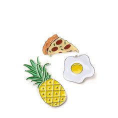 MULTI Breakfast Of Champions Enameled Pin Set ($6.36) ❤ liked on Polyvore featuring jewelry, brooches, multi, fake jewelry, artificial jewellery, monarch butterfly jewelry, imitation jewellery and butterfly jewelry