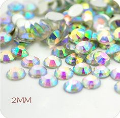 5000pcs 2mm White Ss6 Circular Flatback Imitated Ab Rhinestones *** Details can be found by clicking on the image.