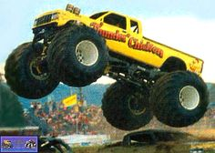 Monster truck pictures and information in a monster truck photo album which consists of over 850 full sized Monster truck Big Monster Trucks, Love Monster, Monster Jam, Cool Trucks, Big Trucks, Thunder Chicken, Automobile, Real Monsters, Power Metal