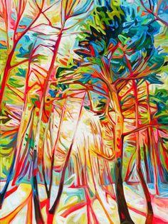 By Julia Veenstra, Hamilton, Ontario.  I love, love, love her vibrant, joyful interpretation of nature.