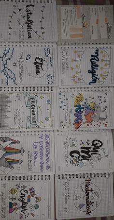 Bullet Journal Cover Ideas, Bullet Journal Banner, Bullet Journal Writing, Bullet Journal School, Bullet Journal Inspiration, School Organization Notes, Notebook Art, Journal Fonts, School Notebooks