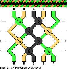 friendship bracelet pattern 42560 - friendship-bracelets.net