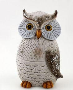 Eule Uhu Eulen Deko Tier Vogel Figur Skulptur Dekofigur Tierfigur Eulenfigur